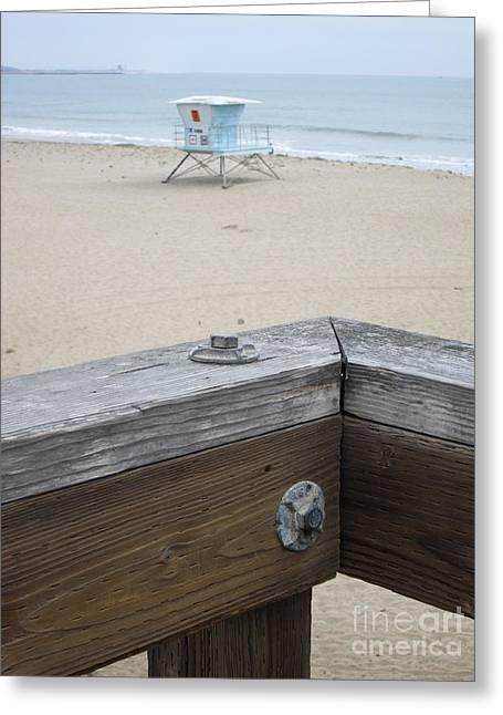 Ventura California Greeting Cards - Ventura Pier Lifeguard Tower Greeting Card by Cassandra Raine