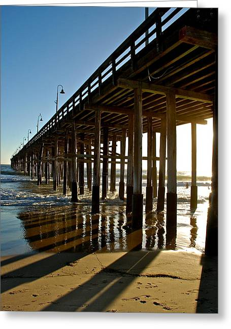 Recently Sold -  - Ventura California Greeting Cards - Ventura Pier Greeting Card by Liz Vernand