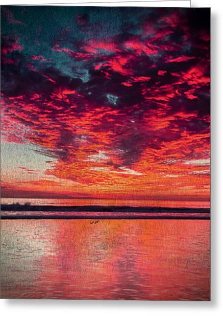 Ventura California Greeting Cards - Ventura Sunset Greeting Card by Digital Art Cafe