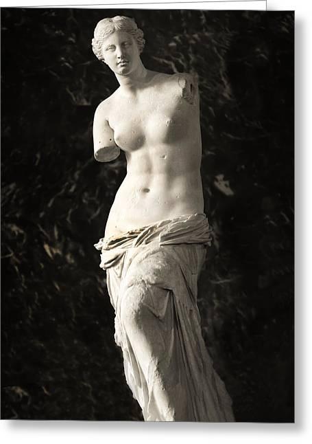 Greek Sculpture Greeting Cards - Venus de Milo Greeting Card by Hsin Liu