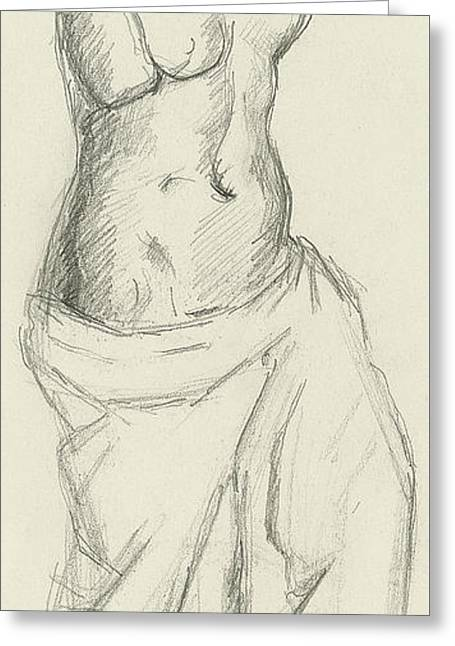 Venus De Milo Greeting Card by Paul Cezanne