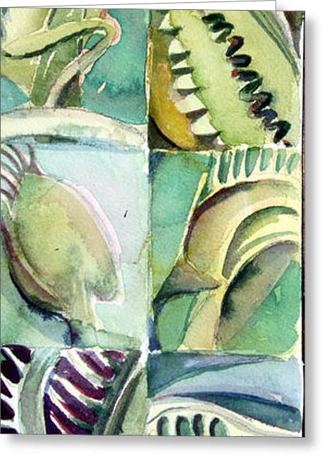 Aceo Drawings Greeting Cards - Venus Fly Trap Greeting Card by Mindy Newman