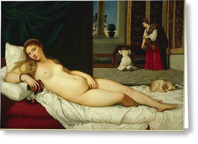 Venus Of Urbino  Greeting Card by Titian