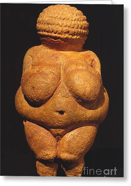 Paleolithic Greeting Cards - Venus Of Willendorf Greeting Card by Granger