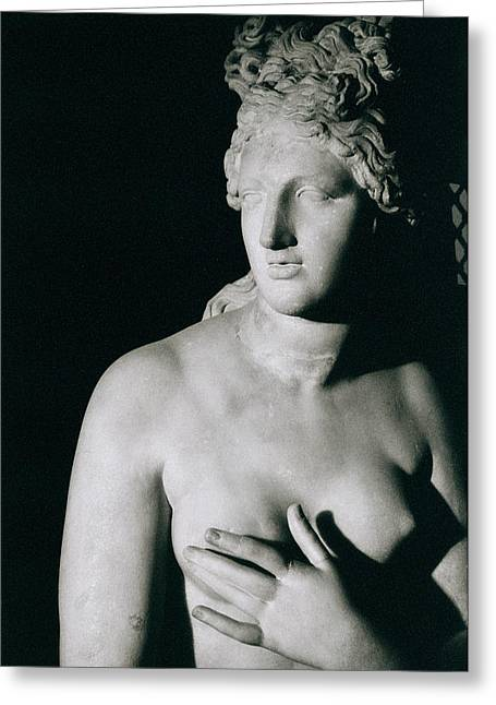 Venus Pudica (marble) Greeting Cards - Venus Pudica  Greeting Card by Unknown