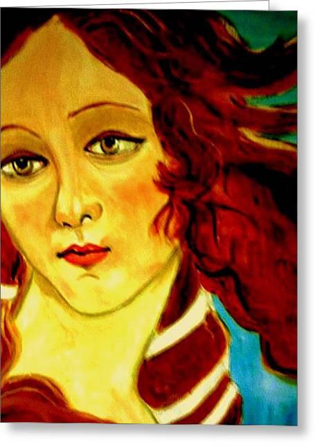 Firenza Greeting Cards - Venus Greeting Card by Rusty Woodward Gladdish