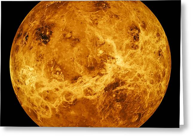 Space Greeting Cards - Venus Greeting Card by Space Art Pictures