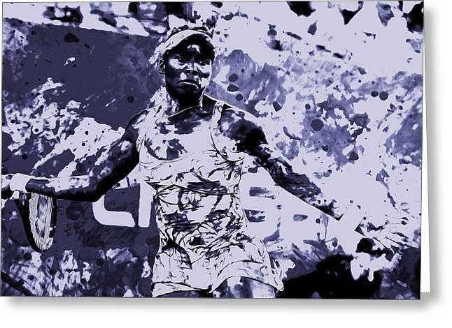 Us Open Mixed Media Greeting Cards - Venus Williams Stay Focused Greeting Card by Brian Reaves