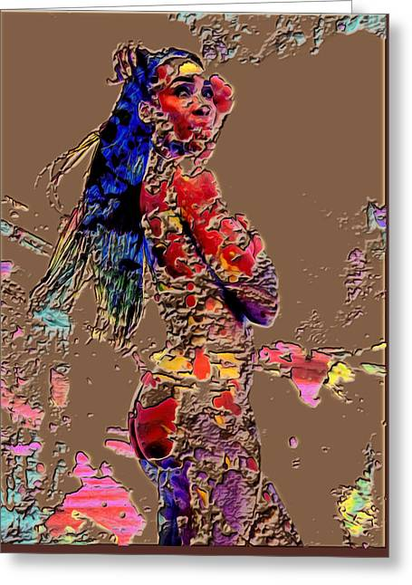 Venus Williams Wall Art Greeting Card by Brian Reaves