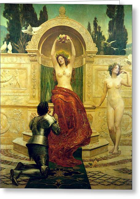 Collier Paintings Greeting Cards - Venusberg Scene from Tannhauser Greeting Card by John Collier