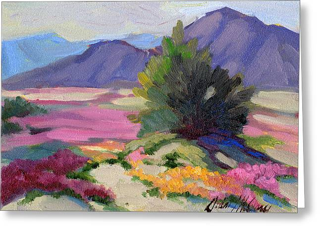 Verbena Greeting Cards - Verbena 2 Greeting Card by Diane McClary