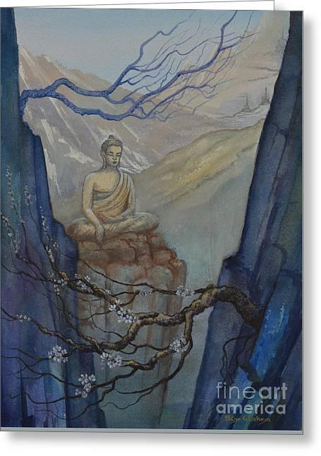 Tibetan Buddhism Greeting Cards - Verge of Absolute Greeting Card by Yuliya Glavnaya