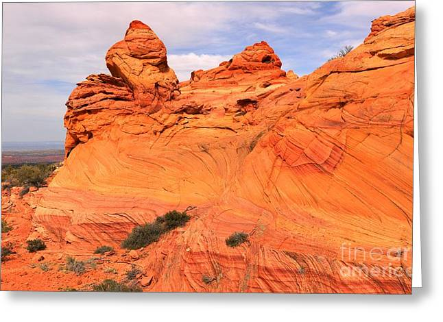 Old Man With Hat Greeting Cards - Vermilion Cliffs Old Man Winter Greeting Card by Adam Jewell