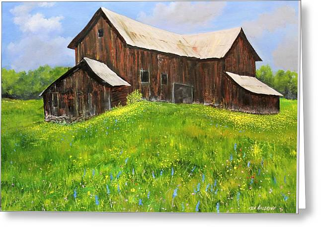 Vermont Barn Greeting Card by Ken Ahlering