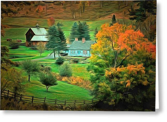Anthony J. Caruso Greeting Cards - Vermont Country Greeting Card by Anthony Caruso