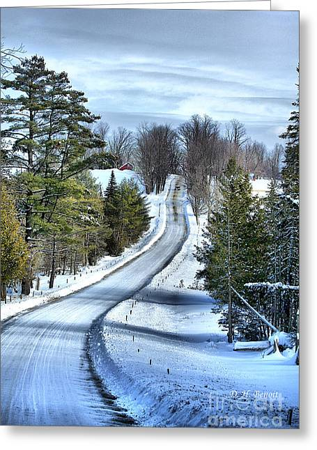 Vermont Winter Greeting Cards - Vermont Country Landscape Greeting Card by Deborah Benoit