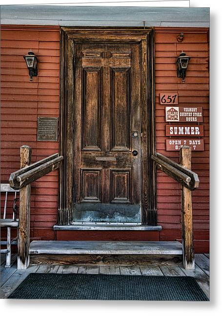 Vermont Country Store Greeting Cards - Vermont Country Store Door Greeting Card by Stephen Stookey