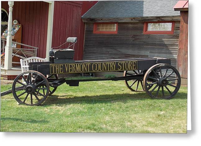 Vermont Country Store Greeting Cards - Vermont Country Store Wagon Greeting Card by Catherine Gagne