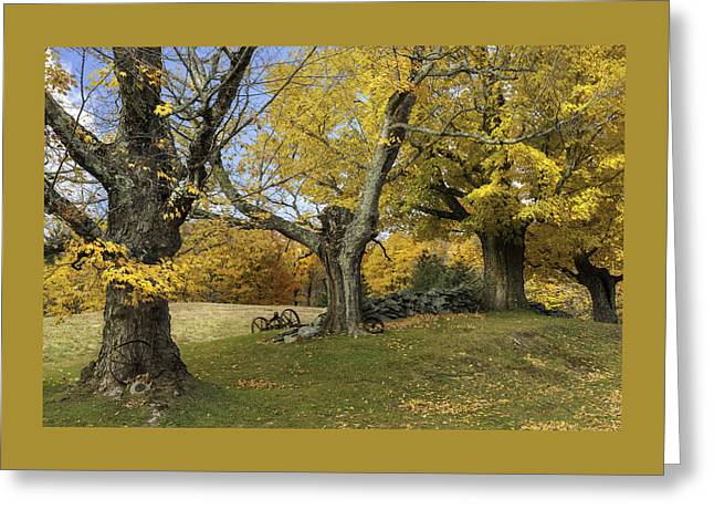 Vermont's Rural Countryside Greeting Card by Thomas Schoeller