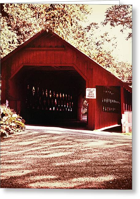 Covered Bridge Greeting Cards - Vermont Covered Bridge Greeting Card by Marilyn Hunt