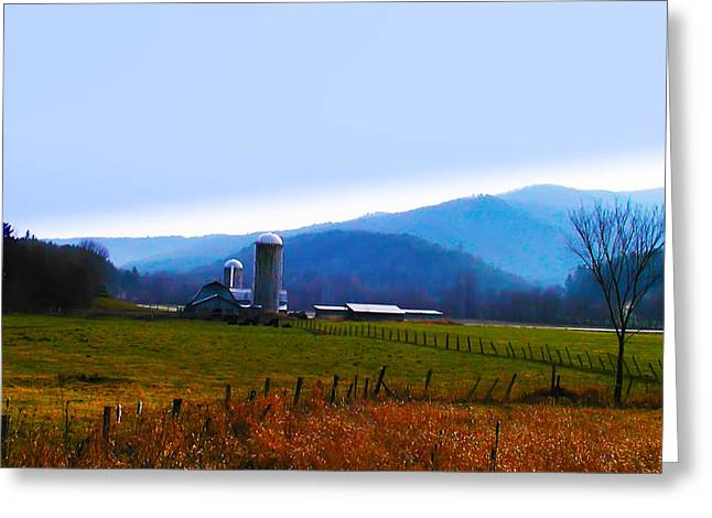 Vermont Farm Greeting Card by Bill Cannon