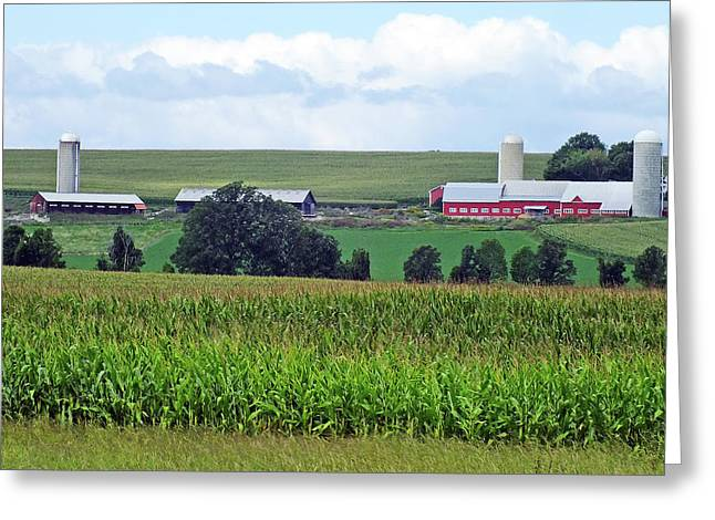 Vermont Farm Country Greeting Card by Bill Morgenstern