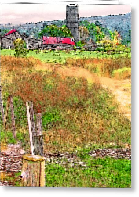 Vermont Farmland 3 Greeting Card by Steve Ohlsen