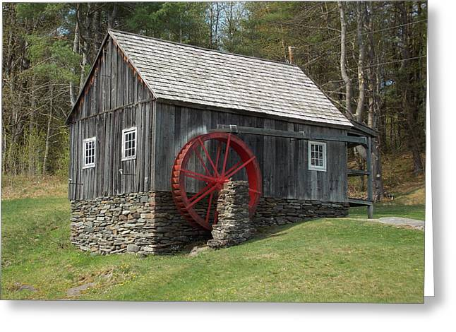 Grist Mill Greeting Cards - Vermont Grist Mill Greeting Card by Catherine Gagne
