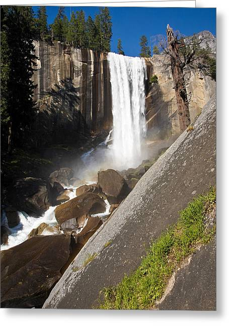 Vernal Greeting Cards - Vernal Falls Greeting Card by James Marvin Phelps
