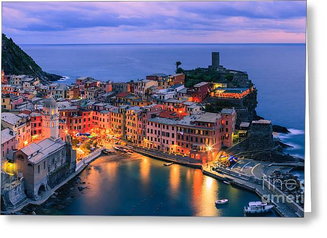 Vernazza Is One Of The Five Towns That Make Up The Cinque Terre  Greeting Card by Henk Meijer Photography
