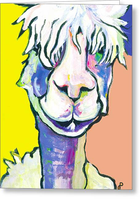 Alpacas Greeting Cards - Veronica Greeting Card by Pat Saunders-White