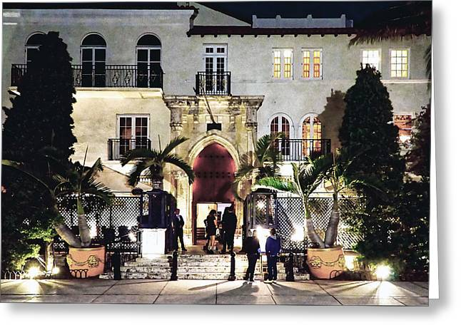 Versace Greeting Cards - Versace Mansion South Beach Greeting Card by Gary Dean Mercer Clark