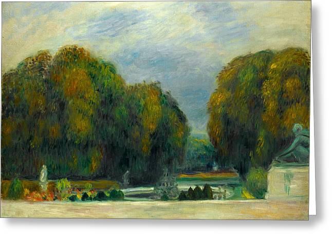 Renoir Greeting Cards - Versailles Greeting Card by Auguste Renoir