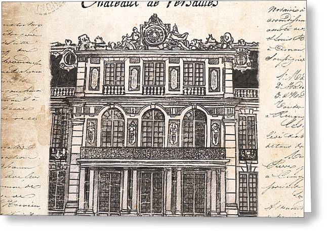 Ink Drawing Greeting Cards - Versailles Greeting Card by Debbie DeWitt