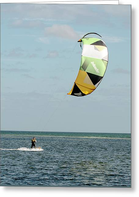 Vertical Kite Greeting Card by Norman Johnson