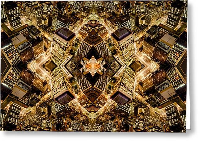 Vertigo Greeting Cards - Vertigo - Golden Discombobulation Greeting Card by Ray Warren