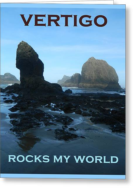 Vertigo Greeting Cards - Vertigo Rocks My World Two Greeting Card by Gallery Of Hope