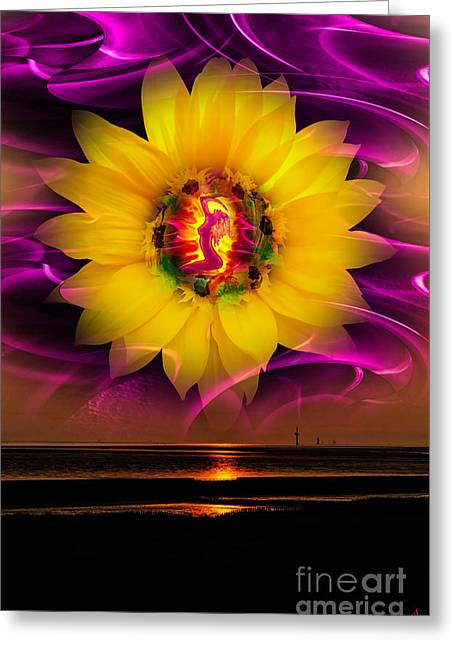 Very Beautiful  Sunrise Greeting Card by Walter Zettl