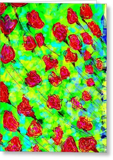 Modern Digital Art Digital Art Greeting Cards - Very bright Greeting Card by Khushboo N