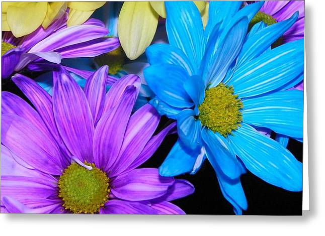 Very Colorful Flowers Greeting Card by Christy Patino