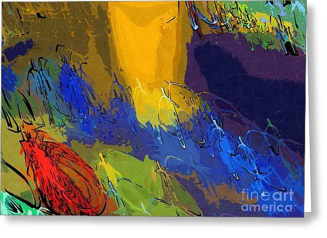 Color Splash Greeting Cards - Very Deep Greeting Card by Deborah MacQuarrie
