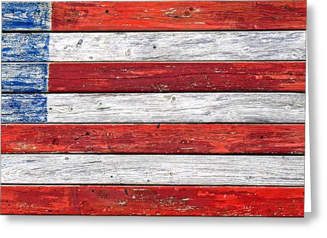 Modified Greeting Cards - Very Old Glory Greeting Card by Olivier Le Queinec