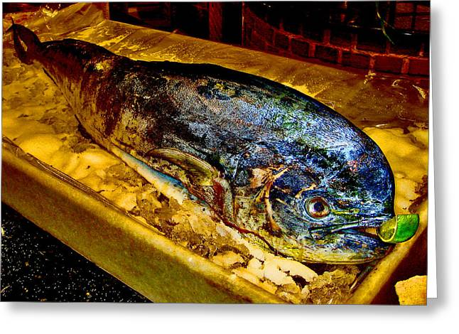 Mccoy Greeting Cards - Very tasty fish with lime. Greeting Card by Andy Za