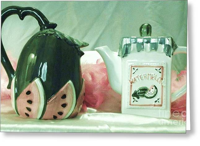 Kitchen Art Ceramics Greeting Cards - Vessels Greeting Card by Donna Dixon