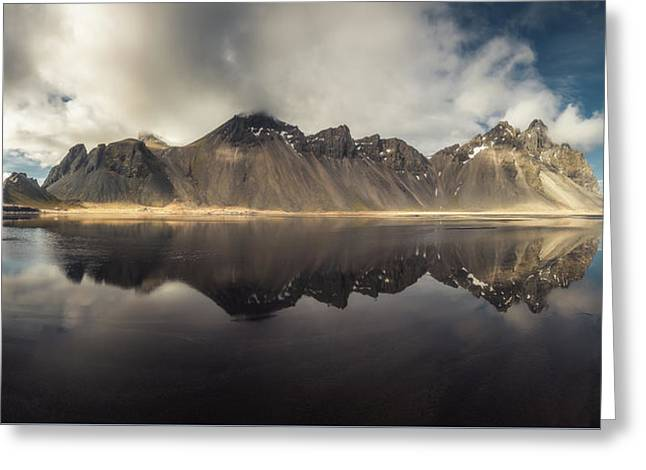 Vestrahorn Panorama Greeting Card by Tor-Ivar Naess