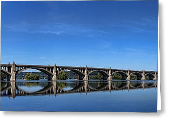 Wrightsville Greeting Cards - Veterans Memorial Bridge on the Susquehanna River Greeting Card by Olivier Le Queinec