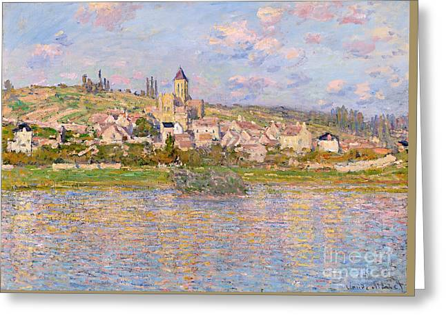 Vintage Painter Greeting Cards - Vetheui Greeting Card by Claude Monet