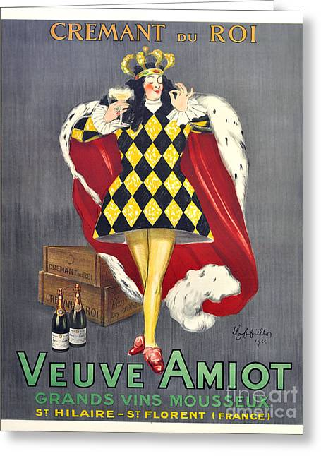 Wine Deco Art Photographs Greeting Cards - Veuve Amiot Greeting Card by Jon Neidert