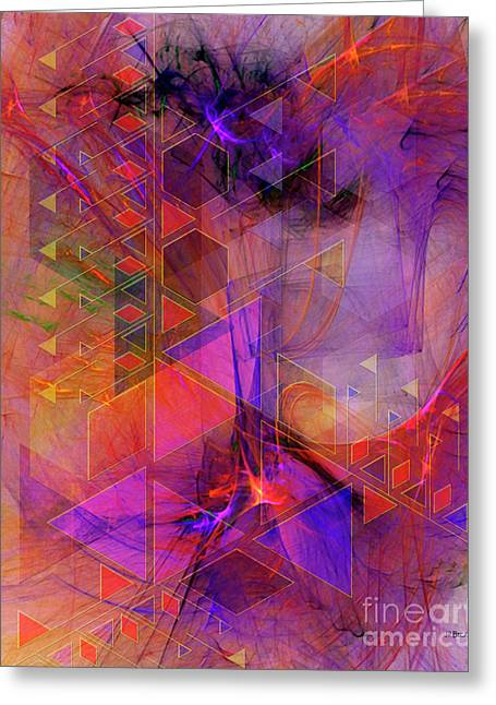 Vibrant Echoes Greeting Card by John Robert Beck