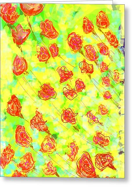 Layer Greeting Cards - Vibrant flower Greeting Card by Khushboo N